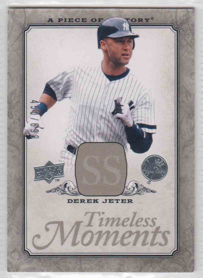 2008 A Piece Of History Timeless Moments Derek Jeter #TM-35 card front image