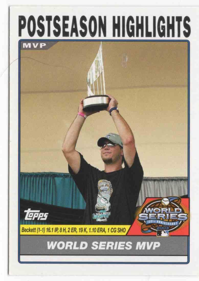 2004 Topps Josh Beckett #733 card front image
