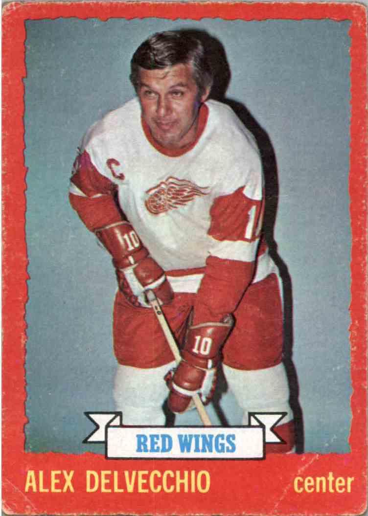1973-74 O-Pee-Chee Alex Delvecchio #1 card front image