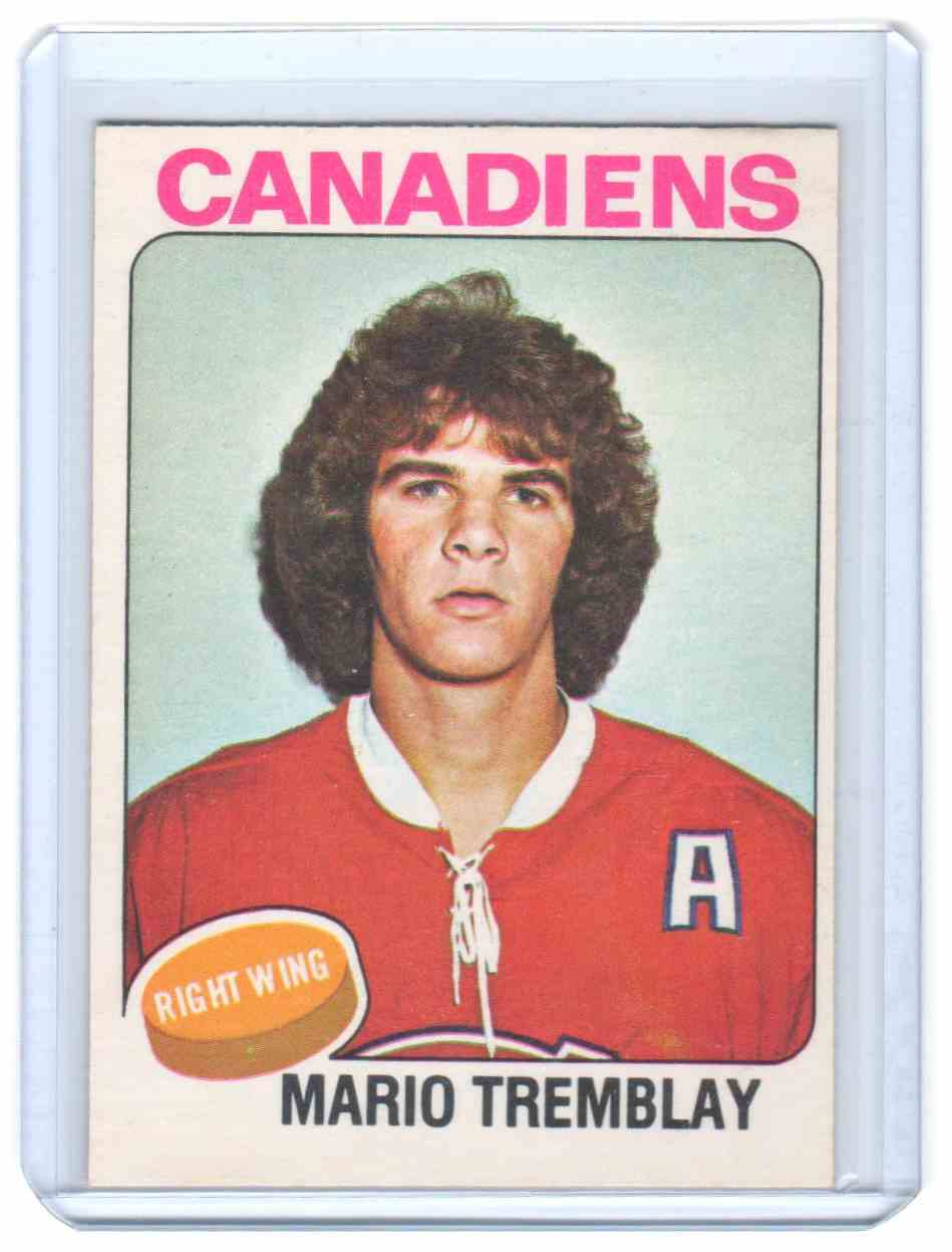 1975-76 O-Pee-Chee Mario Tremblay #223 card front image