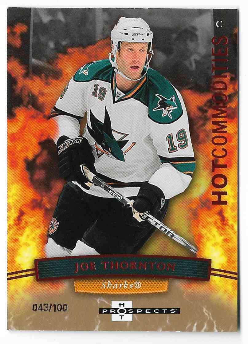 2007-08 Fleer Hot Prospects Joe Thornton #123 card front image