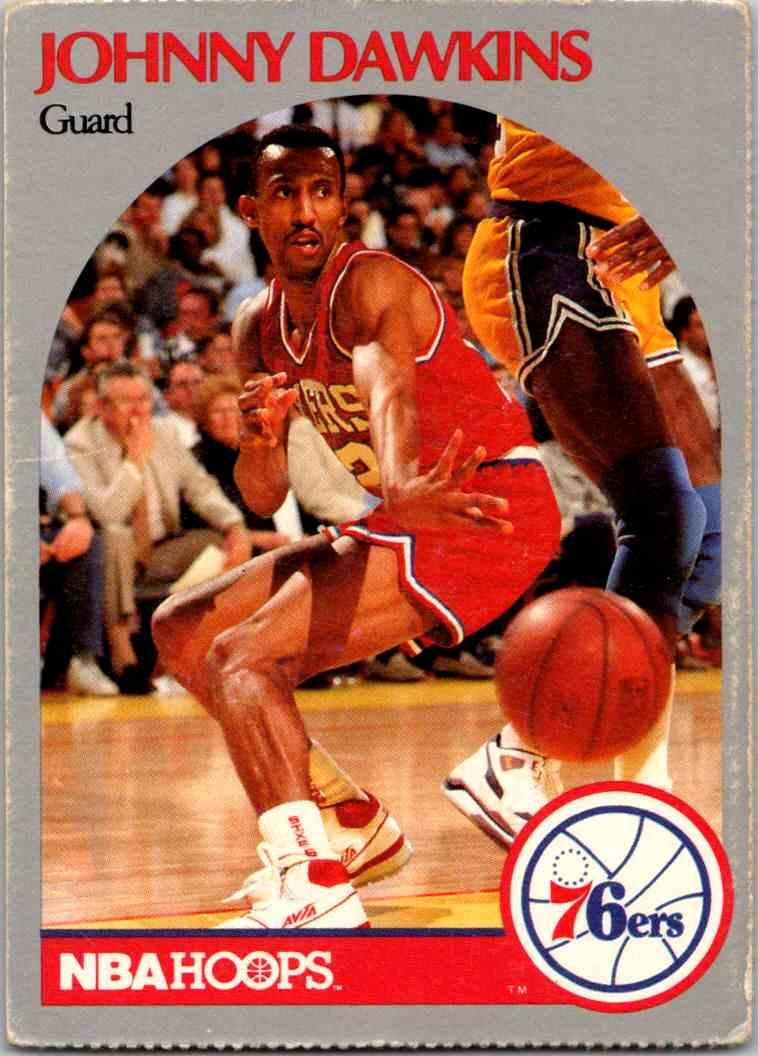 1990-91 NBA Hoops Johhny Dawkins card front image