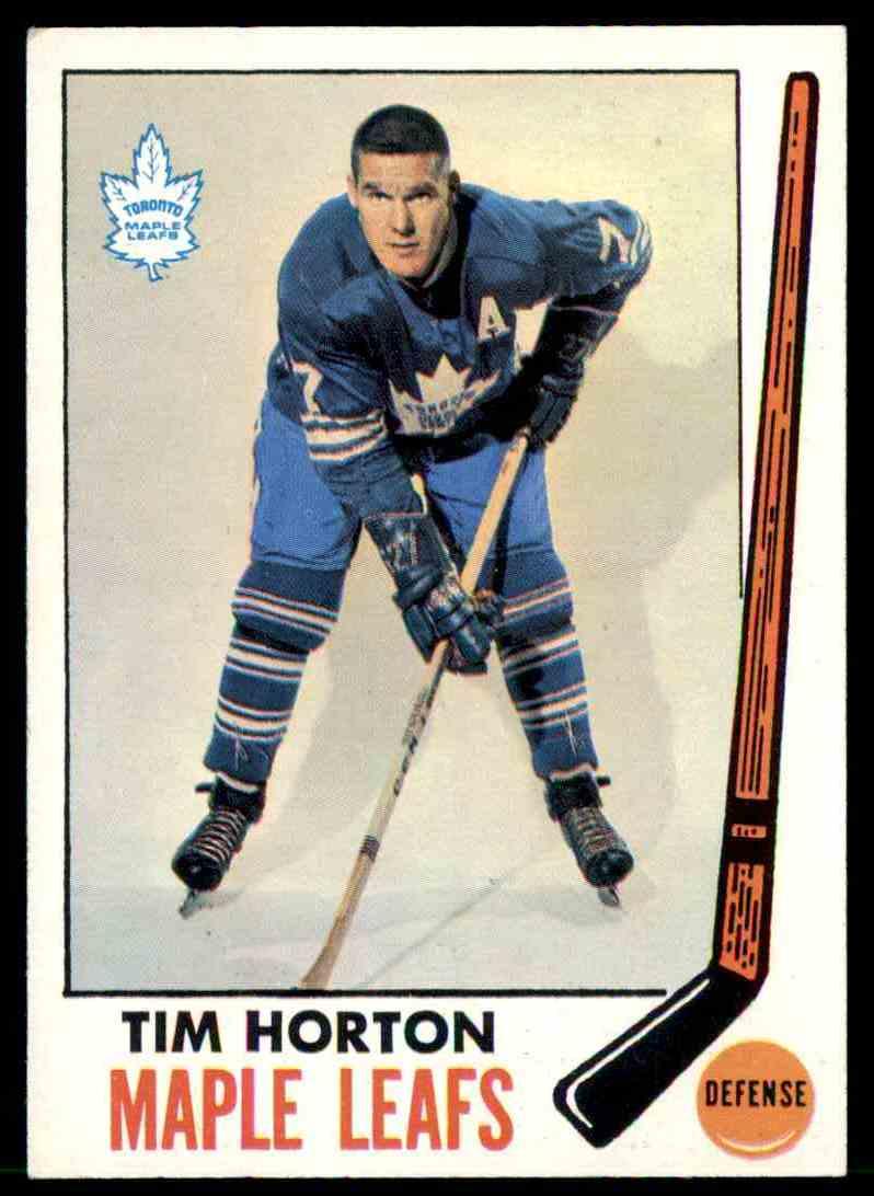 1969-70 Topps Tim Horton #45 card front image