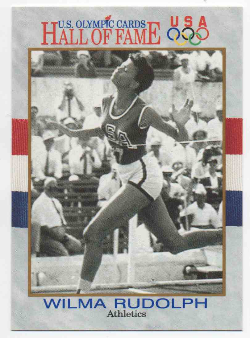 1991 Impel U.S. Olympic Hall Of Fame Wilma Rudolph #7 card front image