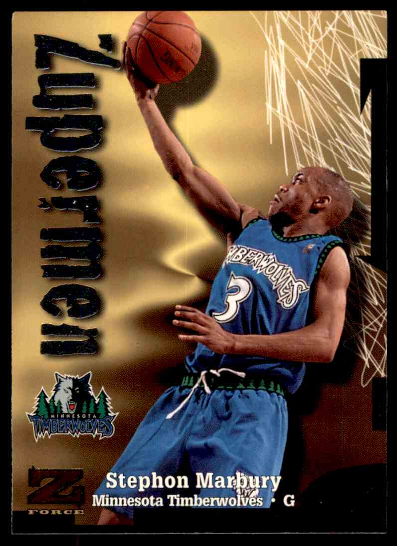 1997-98 Skybox Z Force Zuperman Stephon Marbury #200 card front image