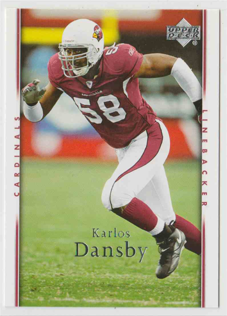 2007 Upper Deck Karlos Dansby #1 card front image