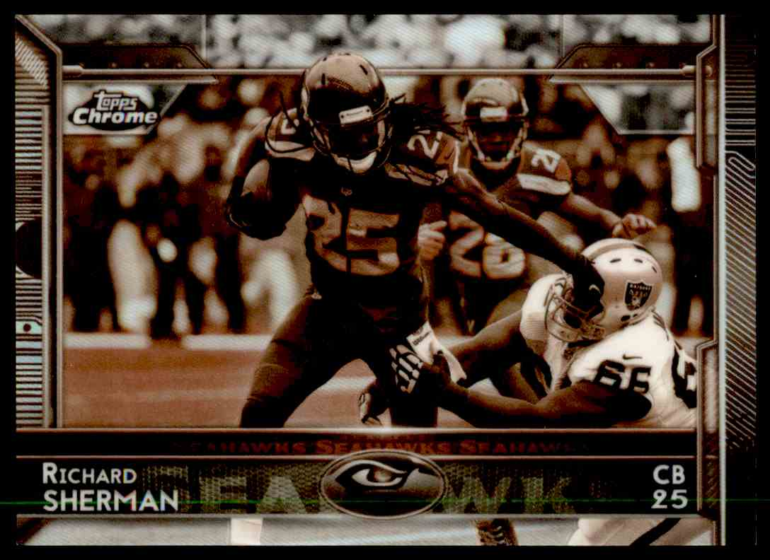 2015 Topps Chrome Sepia Refractor Richard Sherman #9 card front image