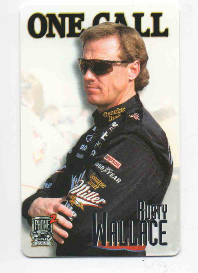 1997 Finish Line Phone Pak Racing 2 Phone Cards Rusty Wallace #4 card front image