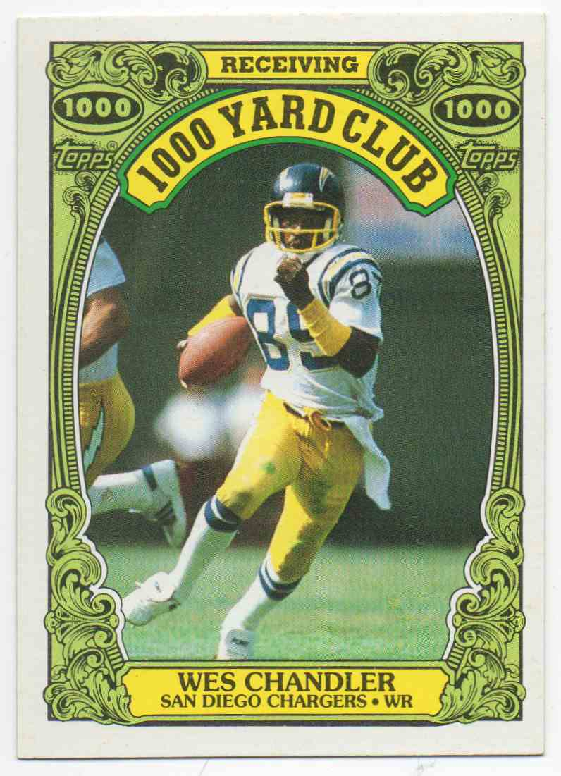 1986 Topps 1000 Yard Club Wes Chandler #13 card front image