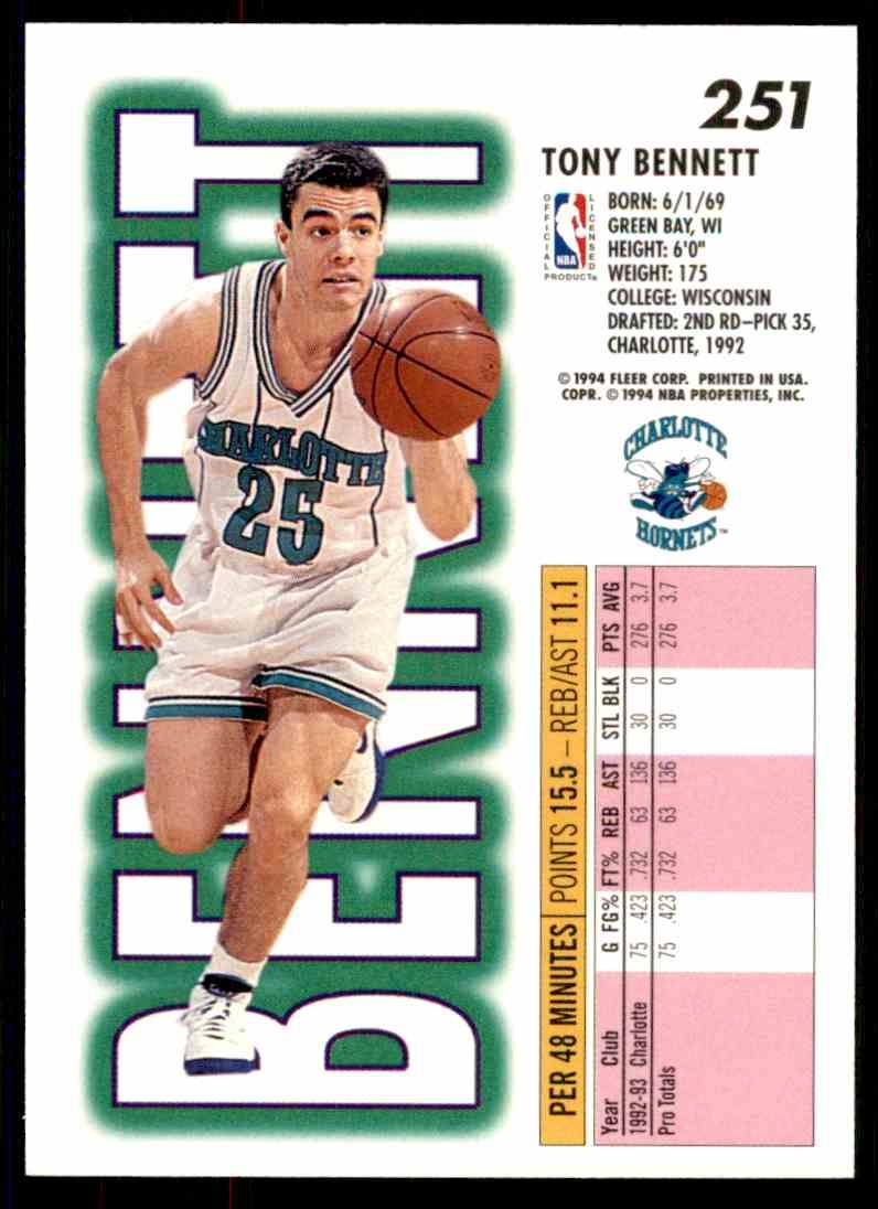 1993-94 Fleer Tony Bennett #251 on Kronozio
