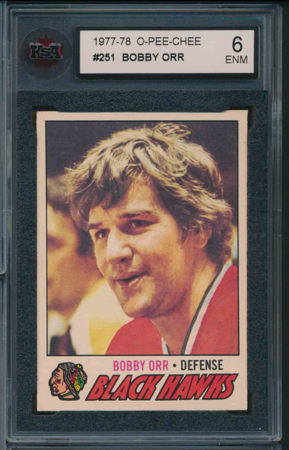 1977-78 O-Pee-Chee Bobby Orr #251 card front image