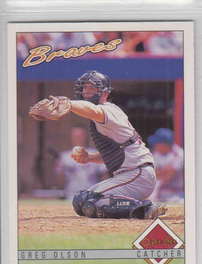 1993 O-Pee-Chee Greg Olson #296 card front image