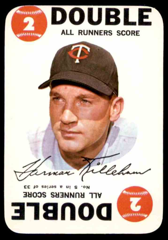 1968 Topps Game Harmon Killebrew #5 card front image