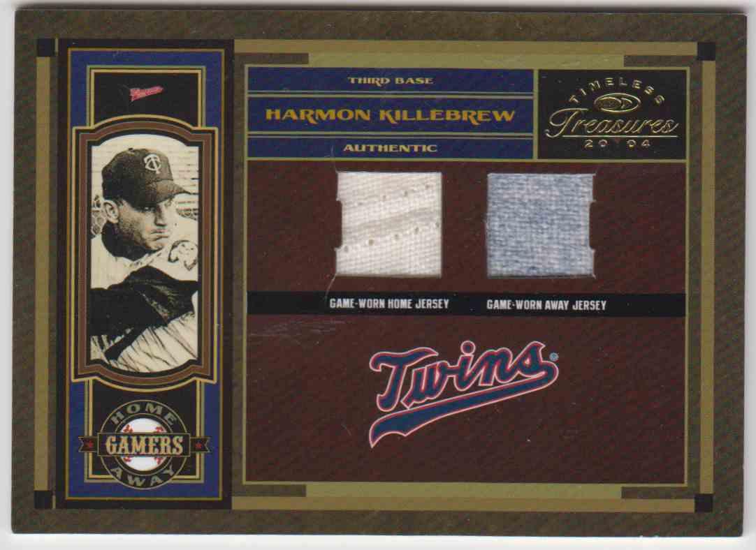 2004 Donruss Timeless Treasures Hof Jersey Away/Home Harmon Killebrew #HA-14 card front image