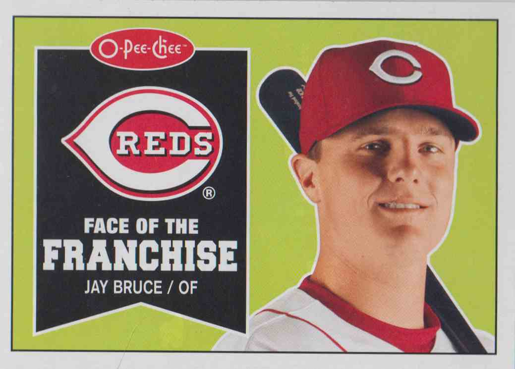 2009 O-Pee-Chee Face Of The Franchise Jay Bruce #FF24 card front image