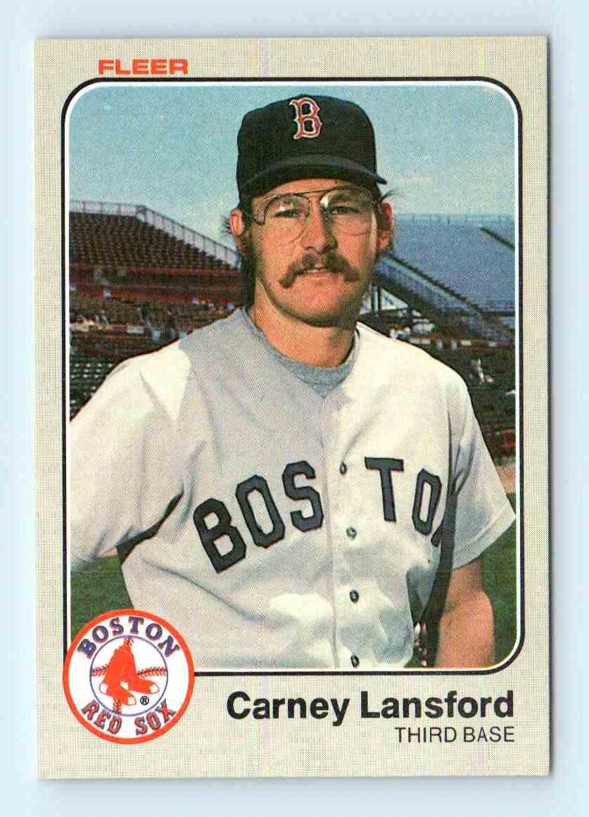 1983 Fleer Carney Lansford 187 On Kronozio
