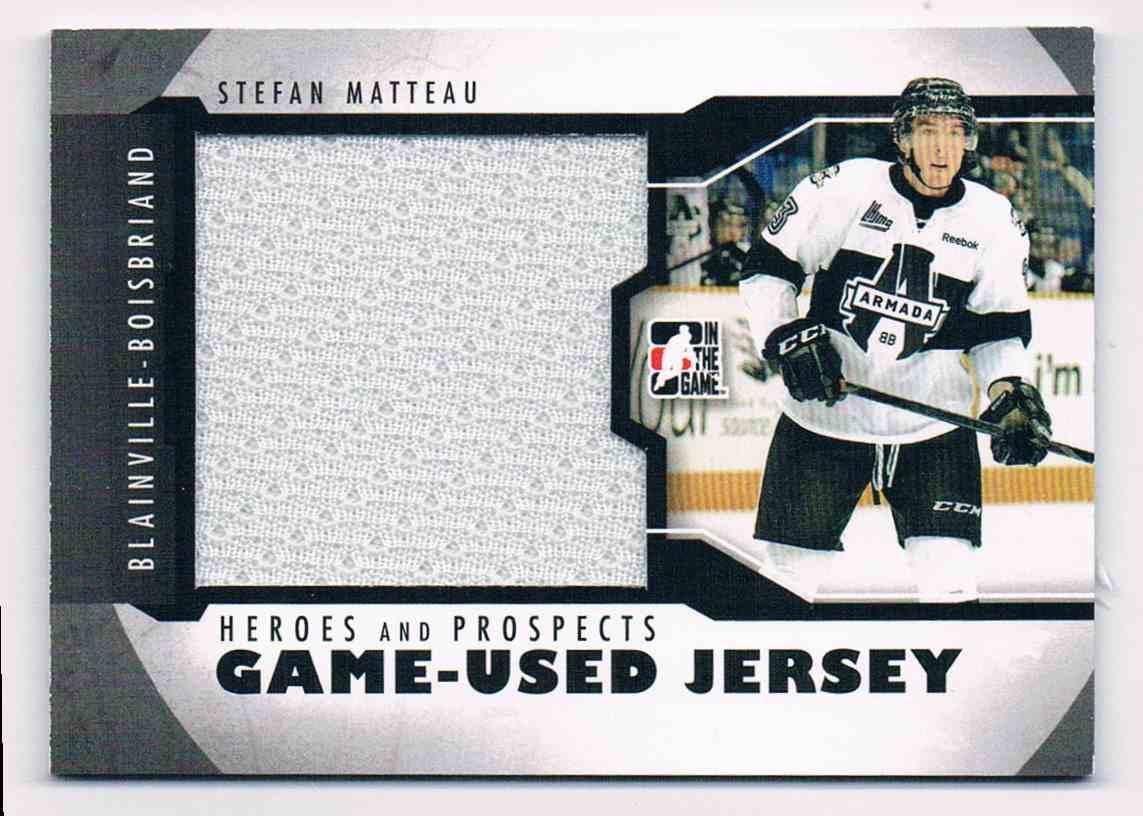 2012-13 In The Game Heroes And Propects Stefan Matteau #M-17 card front image