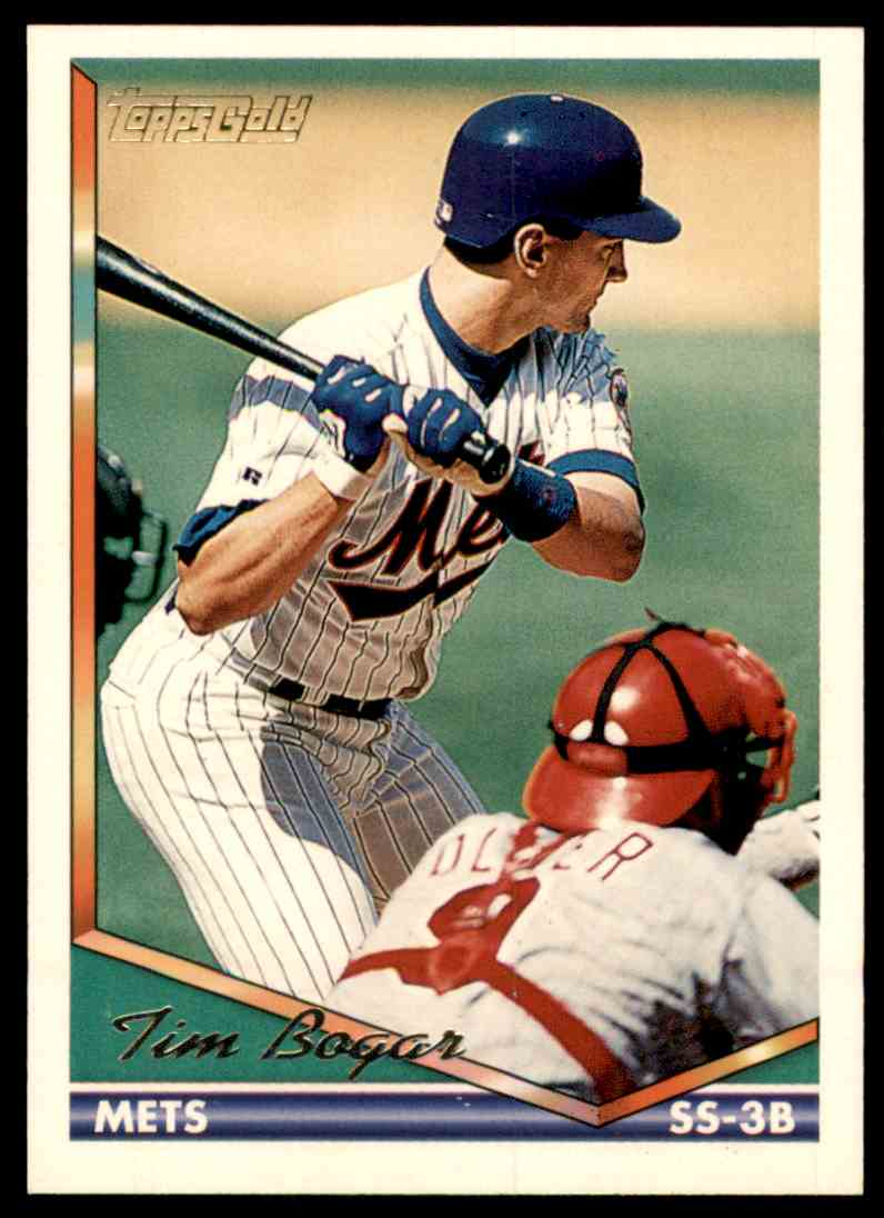 1994 Topps Gold Tim Bogar #509 card front image