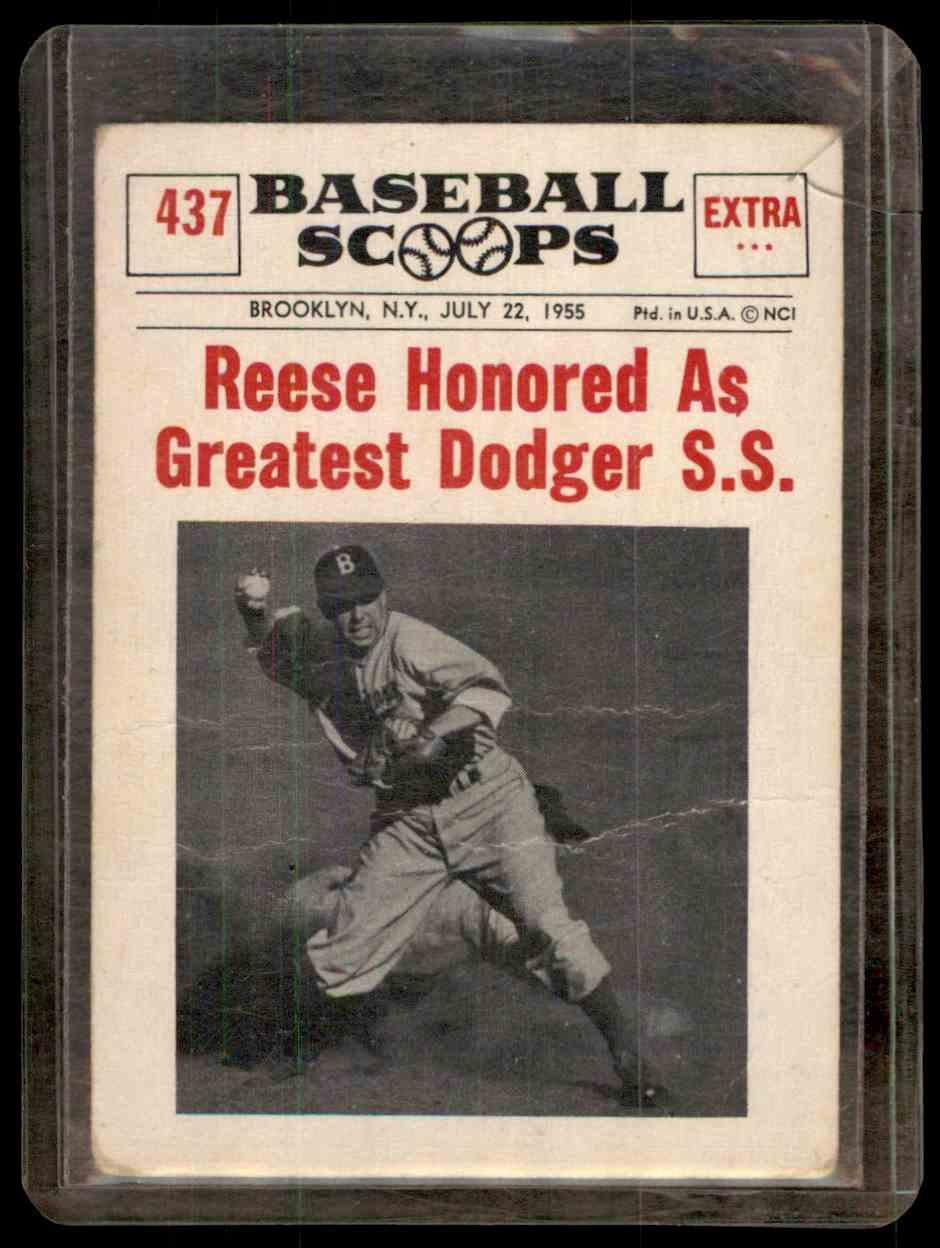 1961 Nu Card Scoops Pee Wee Reese 437 On Kronozio