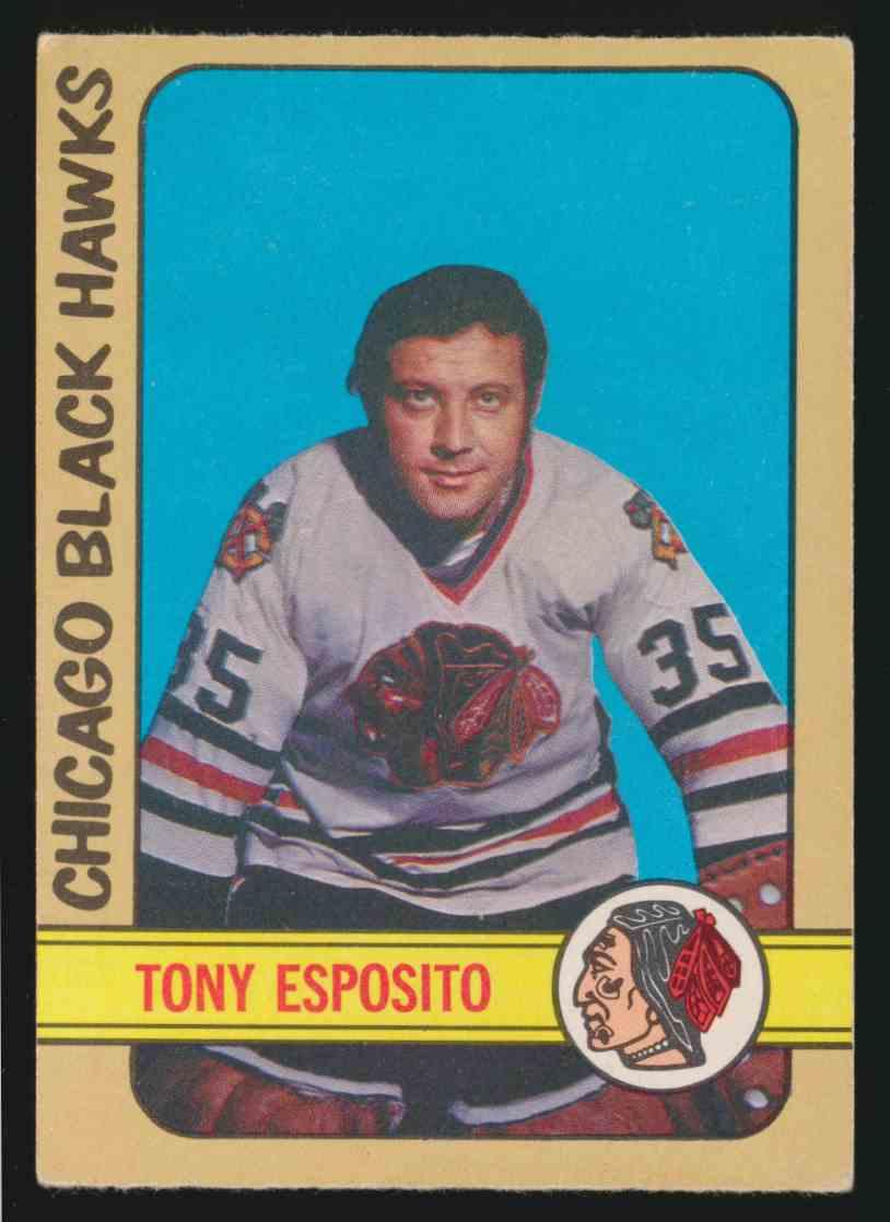1972-73 0-Pee-Chee Tony Esposito - EX #137 card front image