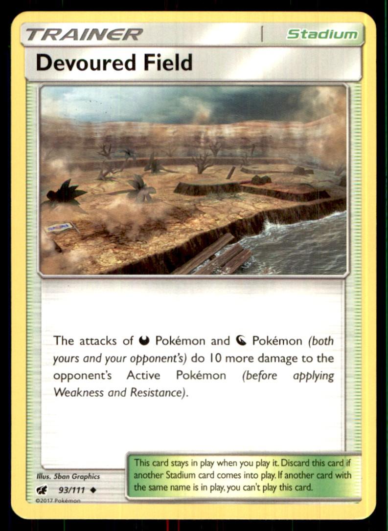 2017 Sun & Moon - Crimson Invasion Devoured Field #93 card front image