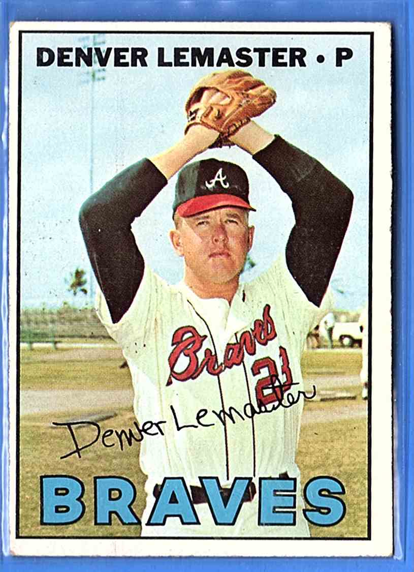 1967 Topps Denny Lemaster #288 card front image