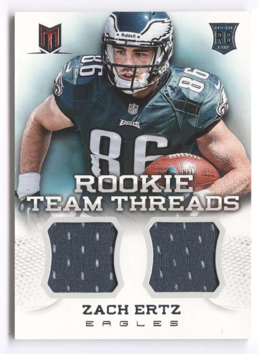 2013 Panini Momentum Rookie Team Threads Combo Materials Zach Ertz #23 card front image