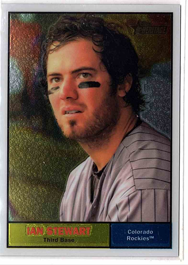 2010 Topps Heritage Chrome Ian Stewart #C141 card front image