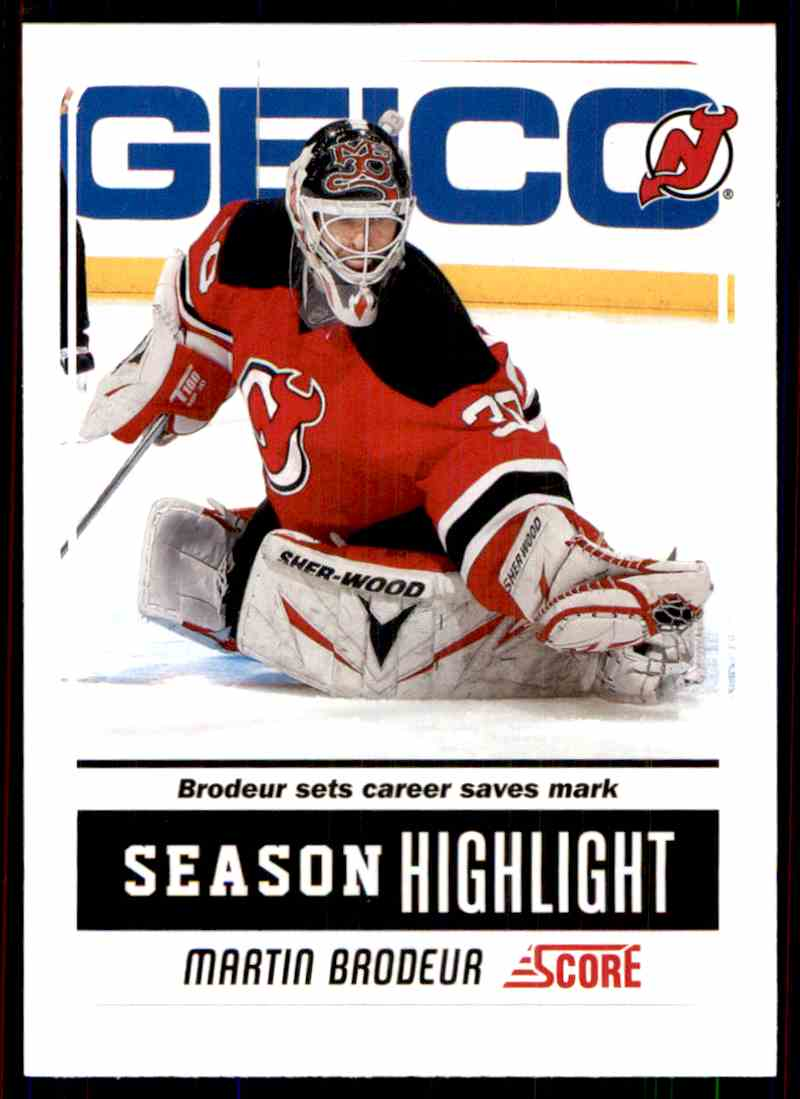 2011 12 Score Season Highlight Martin Brodeur 21 On Kronozio