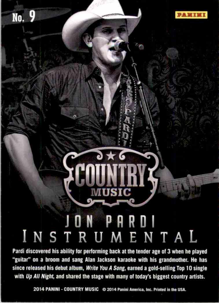 2015 Country Music Instrumentals Purple Jon Pardi #9 card back image