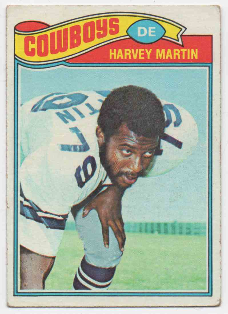1977 Topps Harvey Martin #427 card front image