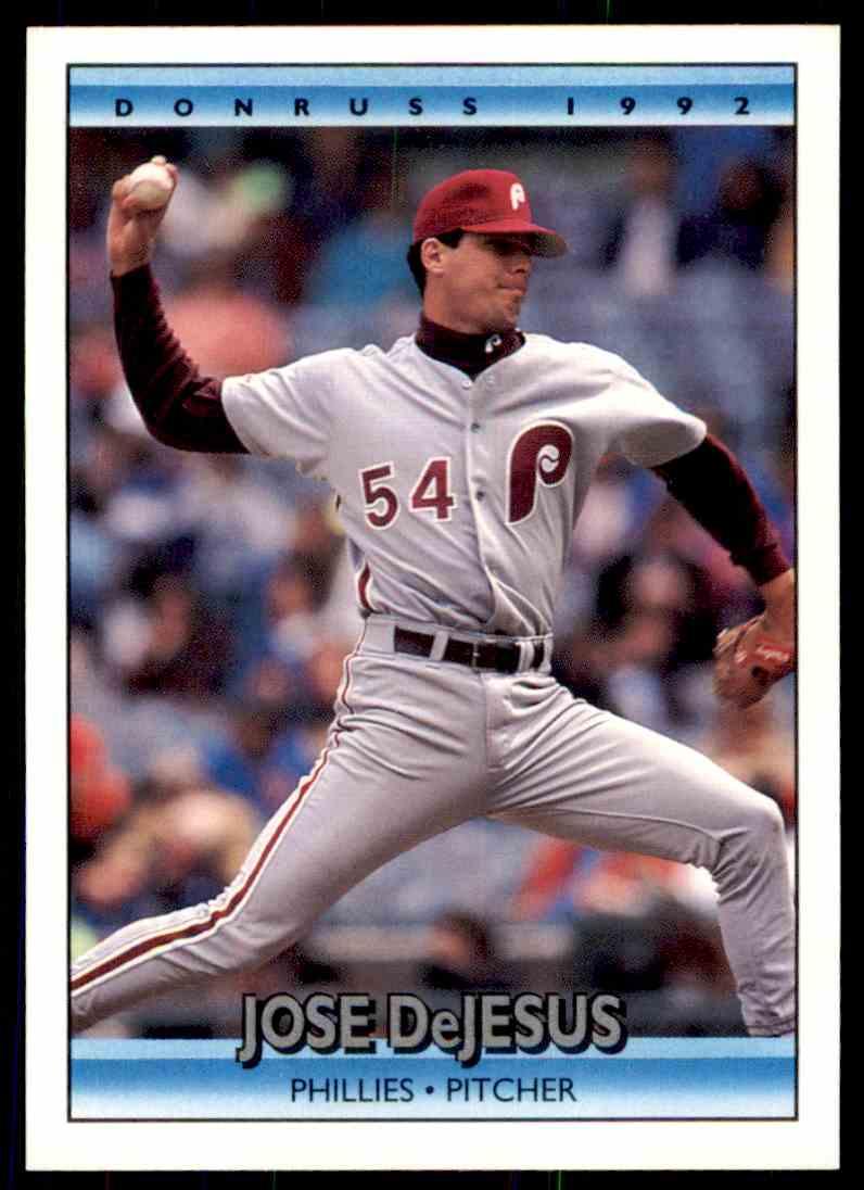 1992 Donruss Baseball Jose Dejesus 300 On Kronozio