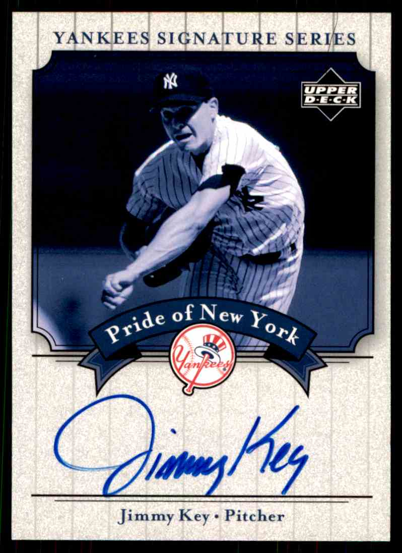 2003 Upper Deck Yankees Siganture Series Jimmy Key card front image