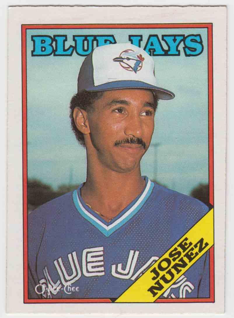 1988 O-Pee-Chee Jose Nunez #28 card front image