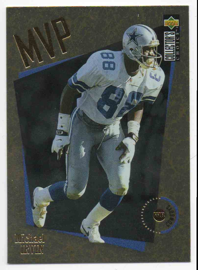 1996 Collectors Choice Gold MVP Michael Irvin #M11 card front image