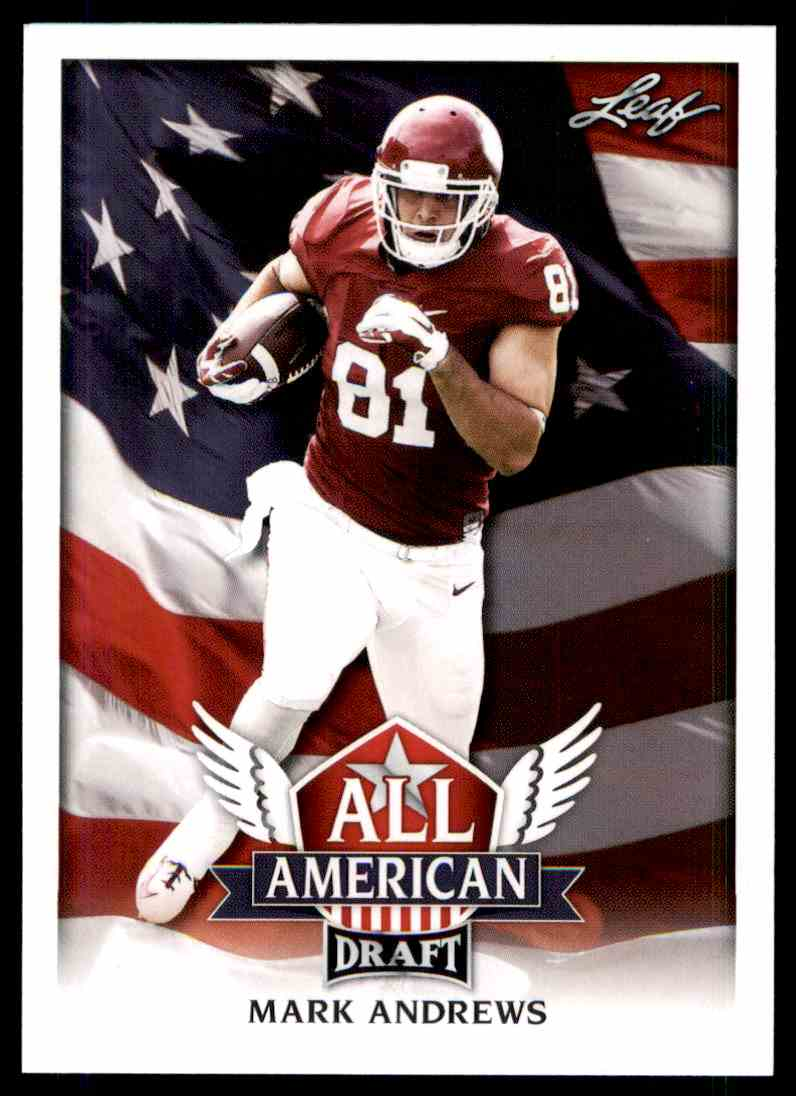 2018 Leaf Draft Mark Andrews #AA-07 card front image