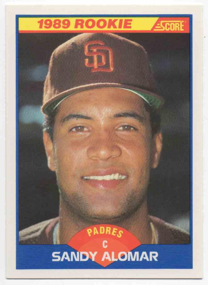 1989 Score Sandy Alomar #630 card front image