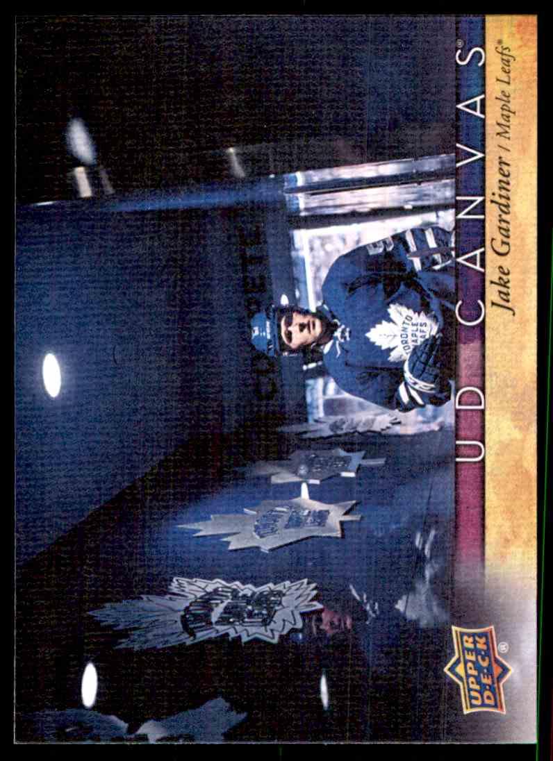 2017-18 Upper Deck Canvas Jake Gardiner #C80 card front image