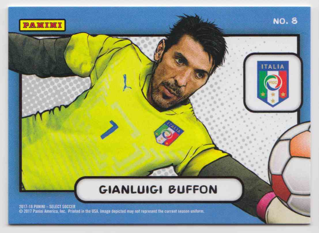 2017 Panini Select Kaboom! Case Hit Gianluigi Buffon #8 card back image