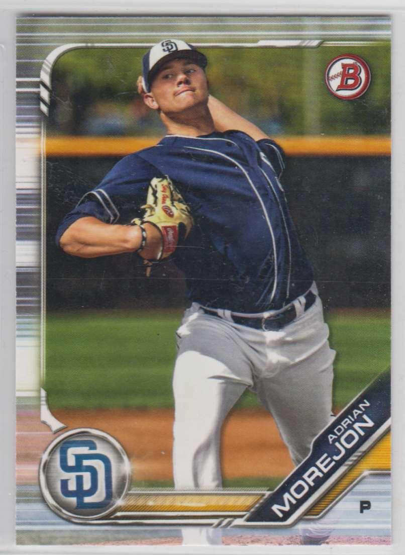 2019 Bowman Prospects Adrian Morejon #BP-10 card front image