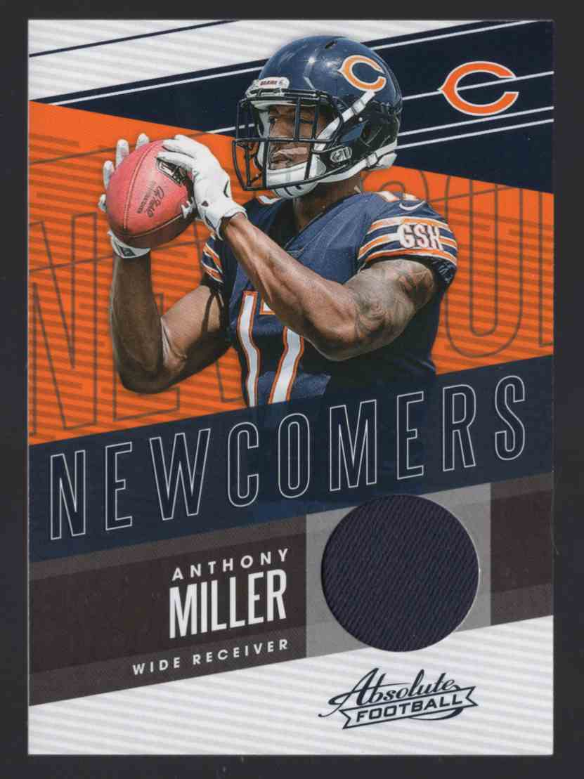 2018 Absolute Newcomers Jerseys Anthony Miller #16 card front image