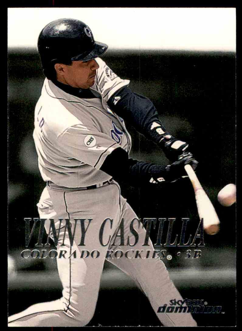 2000 SkyBox Dominion Vinny Castilla #210 card front image