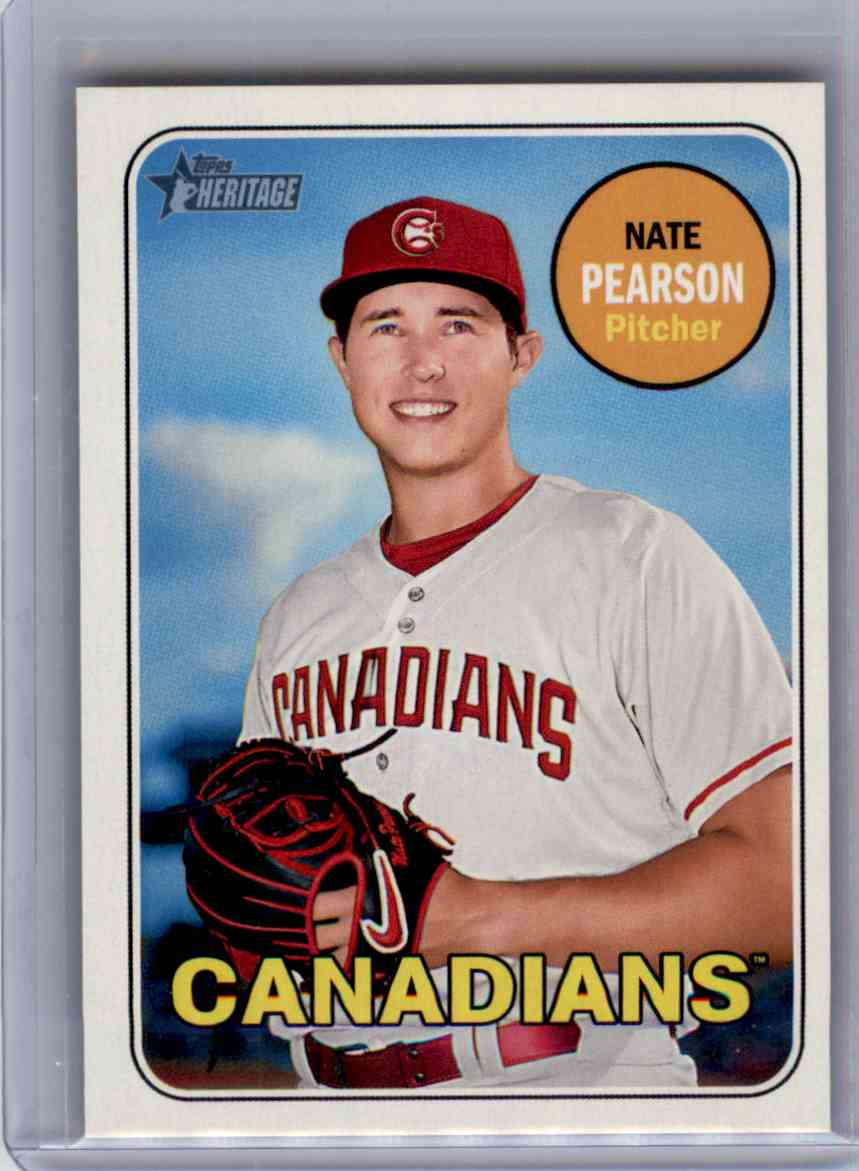 2018 Topps Heritage Minors Magenta Back Parallel Nate