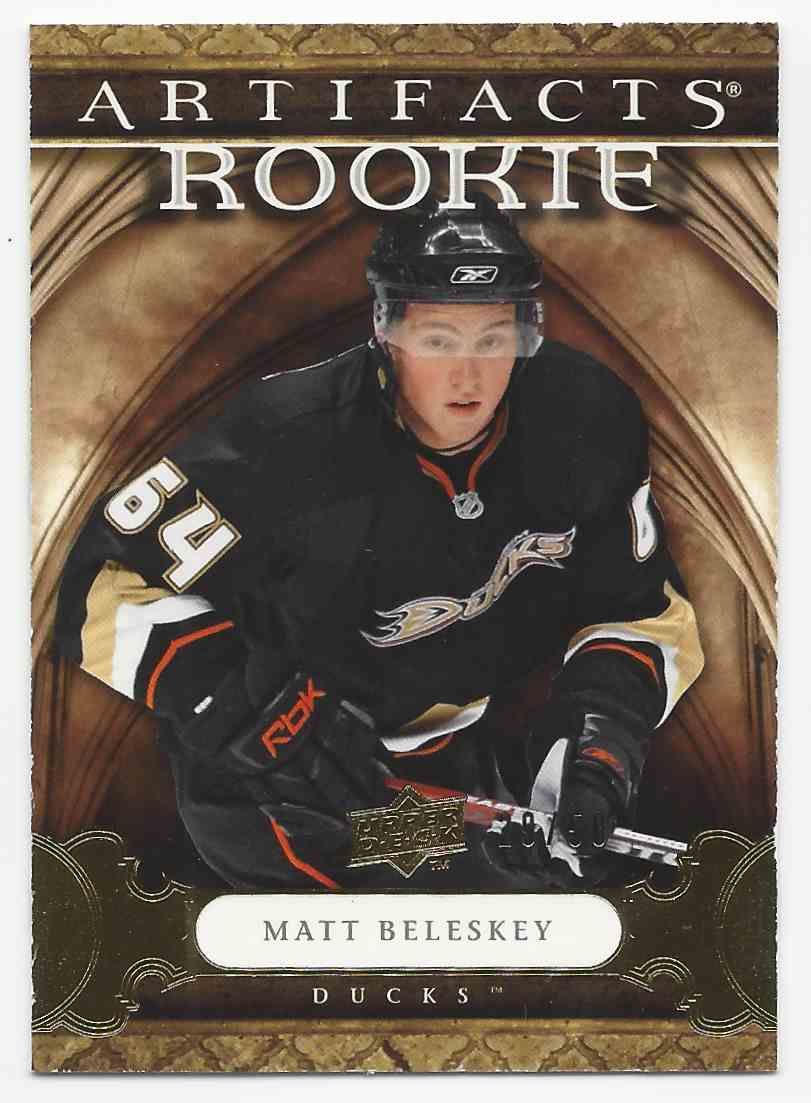 2009-10 Artifacts Gold Matt Beleskey #158 card front image