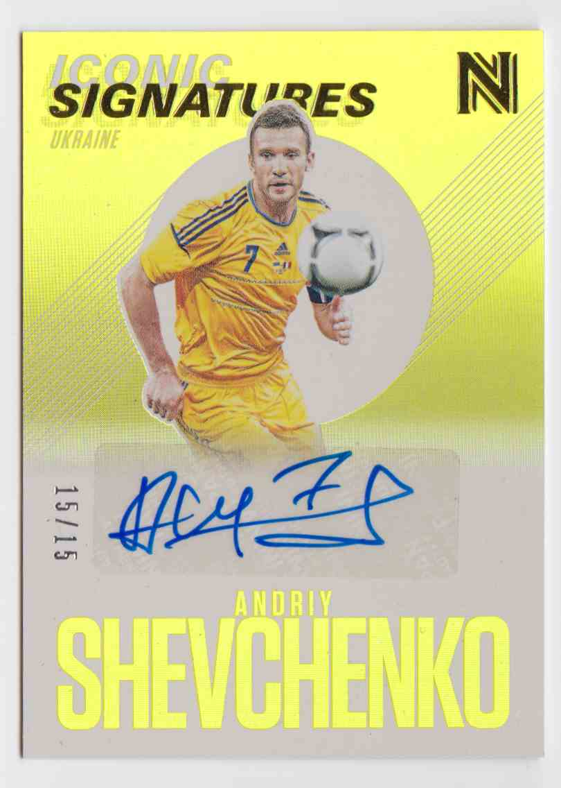 2017 Panini Nobility Iconic Signatures Andriy Shevchenko #IS-AS card front image