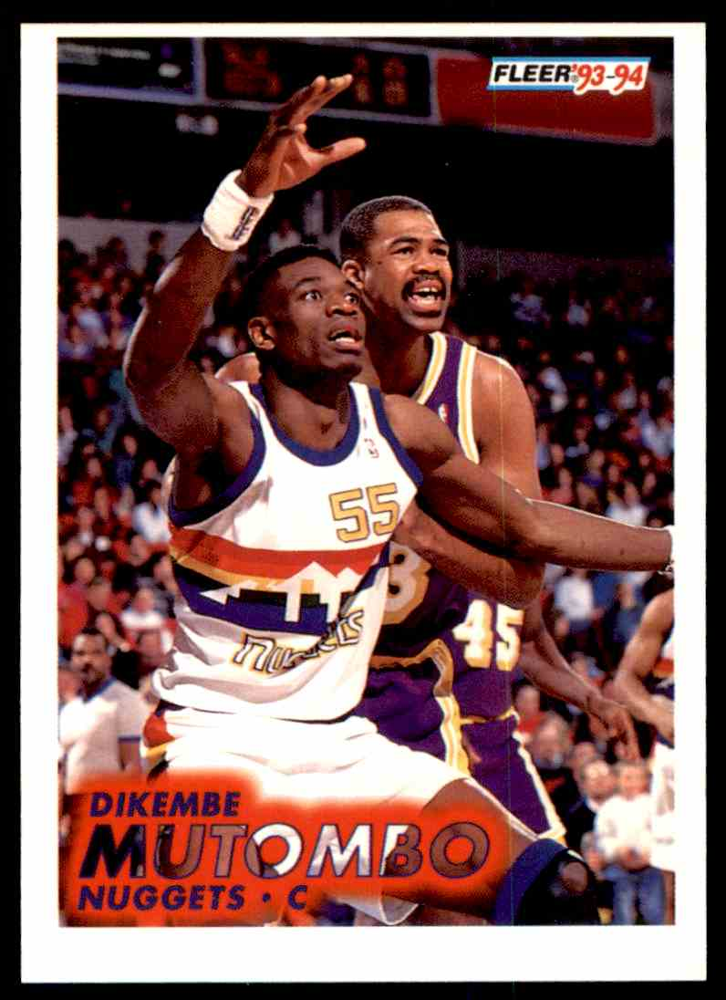 477 Dikembe Mutombo trading cards for sale b1985b237