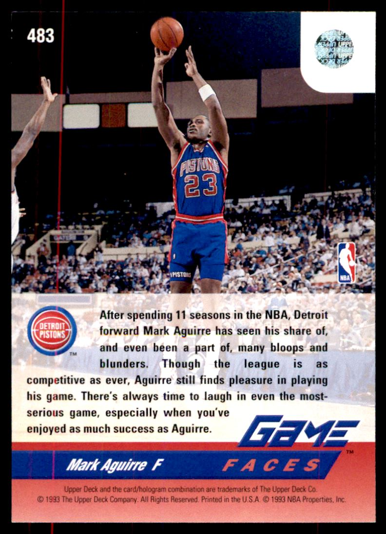 3 Mark Aguirre F trading cards for sale