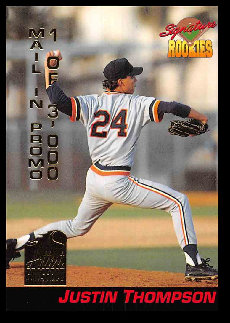 1994 Signature Rookies Hottest Prospects Mail-In Promos Justin Thompson #S10 card front image