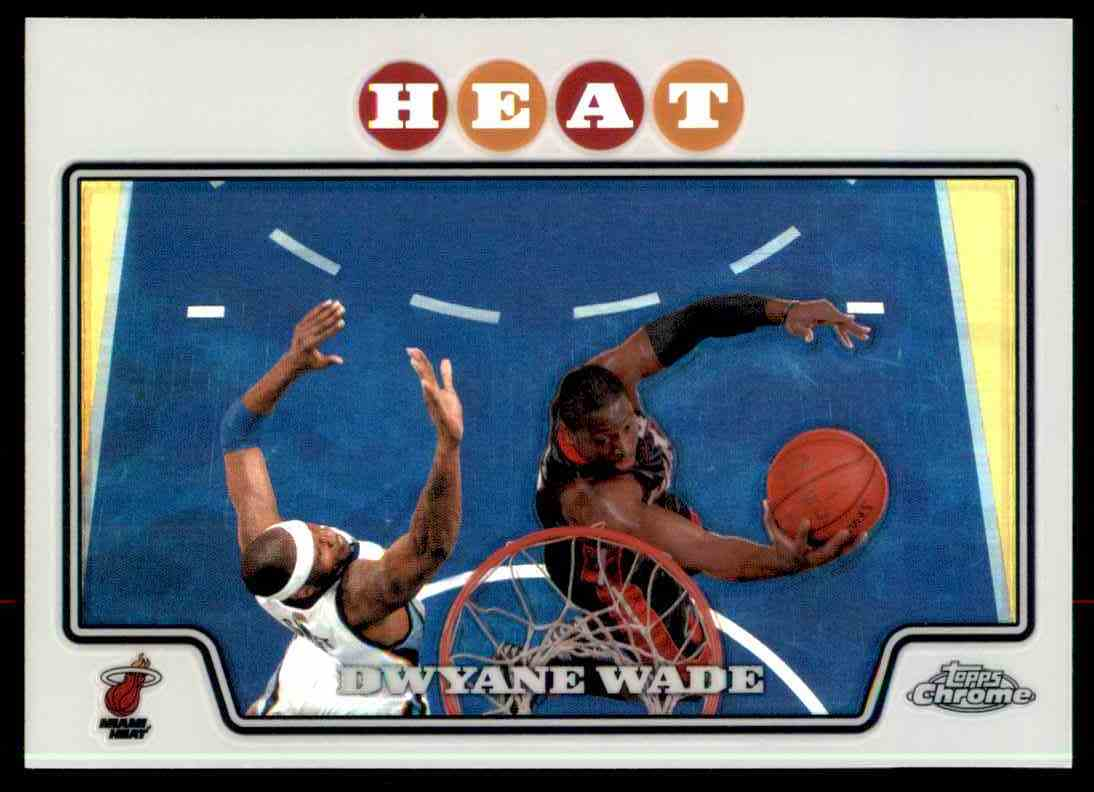 2008-09 Topps Chrome Dwyane Wade card front image