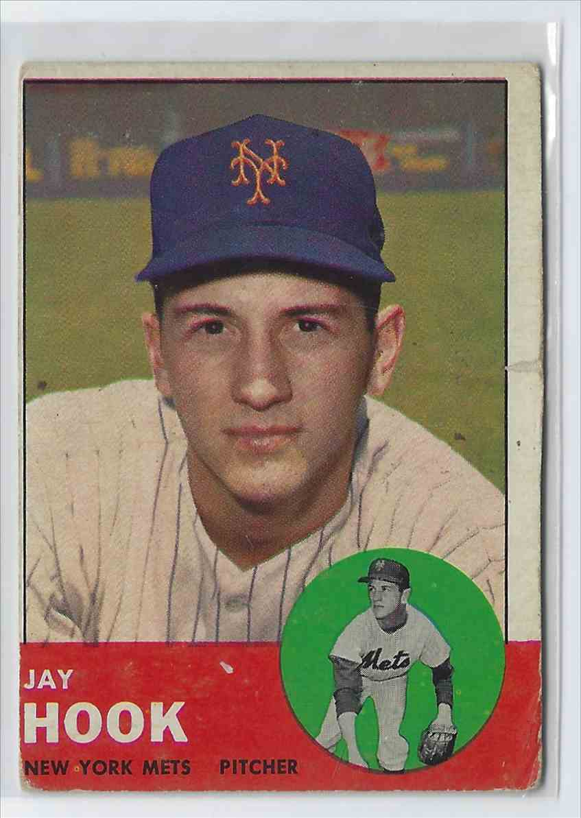 1963 Topps Jay Hook #469 card front image